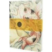 Moleskine Cover Art Carp Fish Ruled Journal by Benjamin Barrios