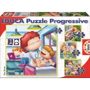 EDUCA 15618 Puzzle Cardboard 4 Progress 12-16-20-25 bucăţi