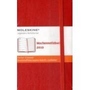 Moleskine Weekly Notebook Planner Red Pocket