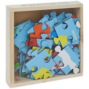 Skillofun Map of World Jigsaw Floor Puzzle in Wooden Box, Multi Color