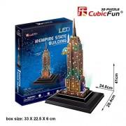 3D PUZZLE LED EMPIRE STATE BUILDING 38 PIEZAS