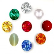 Natural Navgraha Stones With Natural Real Diamond of 5-10 Cents Sizes