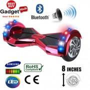 8″ Red Chrome Bluetooth Segway Hoverboard + FREE Carry Case
