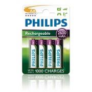 Philips R6B4B260/10 Pack de 4 pilas recargables (NiMh, AA)