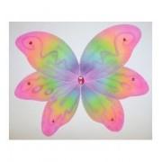 Fancy 6 Petal Rainbow Color Jeweled Play Fairy Wings