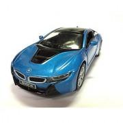 Kinsmart BMW i8 1:36 Scale Super Car Blue