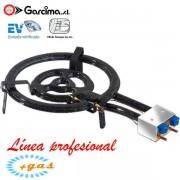 Paellero plano profesional con termopar de Garcima 40 cm / 3 quemadores, Gas Natural