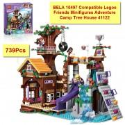 2016 BELA 10497 Building Bricks Compatible Legoe Friends Blocks Adventure Camp Tree House 41122 Emma Mia Figure Toy For Children