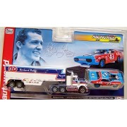 Auto World Racing Rigs Richard Petty Nascar Style Race Set Ho Electric Slot Car White Xtraction