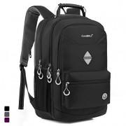 CoolBell 18.4 Inch Backpack Laptop Bag Travel Rucksack Water-resistant Hiking Knapsack Protective Day Pack Fits 15 - 18.4 Inch Laptop For Dell / HP / Lenovo / Macbook / Acer / Men/Women (Black)