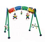 Hess 13331 - Bambino Giocattolo in Legno Attività Baby Gym e Armadio, Stazione
