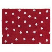 Lorena Canals C-00003 Topos Red Washable Rug, Rosso
