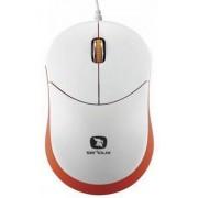 Mouse Serioux Rainbow 680 cu fir optic alb+orange blister