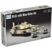 Trumpeter 1/72 M1A1 Abrams Tank with Mine Roller
