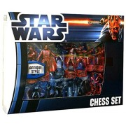 Official Star Wars Saga Memorabilia Rare Antique Deluxe Style Chess Set Board Game by My Planet