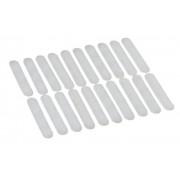 Wenko 17219010100 Strisce Anti frizione - 20 pezzi, per grucce, Silicone, Trasparente - [Confezione da 2]