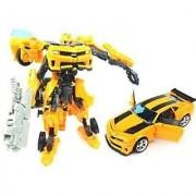Tuzech Convertible Car Into Robot Toy (Yellow)