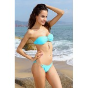 Costum de Baie cu lanturi metalice Hot Metal Blue