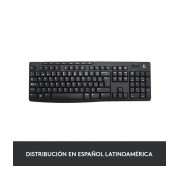 Teclado Logitech K270, Inalámbrico, USB 2.0, Negro (Español)