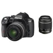 Pentax K-50 kit (DAL 18-55mm WR + DAL 50-200mm WR) (negru)