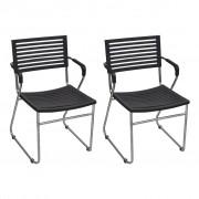 Black Stackable Arm Chair 24 pcs
