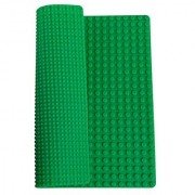 Premium 15 x 15 Double Sided Silicone Baseplate Mat - Green Roll Up Base Plate - (Compatible with LEGO and DUPLO)