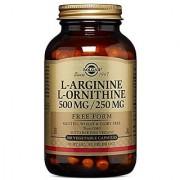 Solgar L-Arginine/L-Ornithine Vegetable Capsules 500/250 mg 100 Count