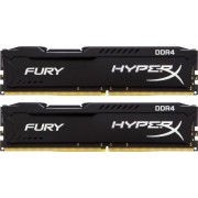 DDR4, KIT 8GB, 2x4GB, 2133MHz, KINGSTON HyperX Fury Black, CL14 (HX421C14FBK2/8)