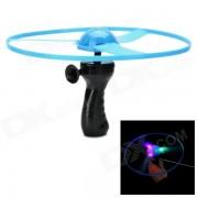 3-LED RVB lumière clignotante Flying Saucer w / poignée de dessin - bleu (3 x AG10)