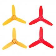 3-Blade CW et CCW Blades hélices principales Set pour Parrot Drone 3.0 Bebop - Rouge + Jaune