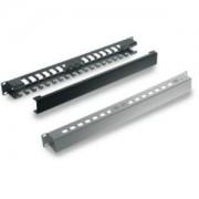 Tecnosteel razdjelnik kablova 1U s poklopcem, Black (F9440N)