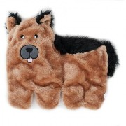 ZippyPaws Squeakie Pup 11-Squeaker No Stuffing Plush Dog Toy German Shepherd