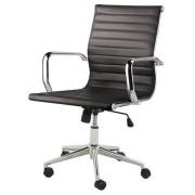 Sun Cadeira Sevilha Eames Baixa Cromada PU Preta 4950 Sun House