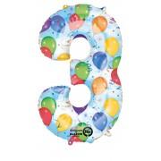Balon folie metalizata - party numarul - 3