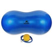 Bola de Pilates Peanut Antiestouro com Bomba de Ar - Azul