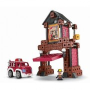 Build a world of city adventure!-Kids can rebuild their own fire station imagination.-Fire Fighter figure snaps on to t