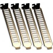 Set brackets PCI Silverstone AEROSLOTS, placate cu nichel negru, SST-AEROSLOTS