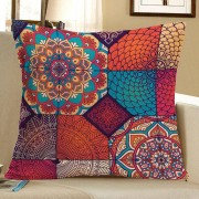 rosegal Bohemian Mandala Floral Print Decorative Pillow Case
