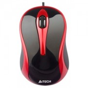 MOUSE A4TECH N-250X-2 V-TRACK PADLESS BLACK-RED