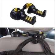 2pcs/lot Universal Multi Use Car Back Seat Headrest Hanger Holder Hook for Sundry Bag Cloth Grocery Storage Auto Fastener Clip