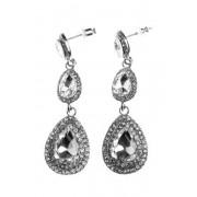 BUBBLEROOM Tripoli crystal earring Silver .