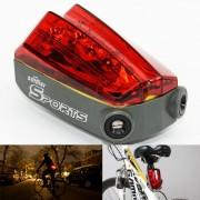 SPORTS laserové zadné svetlo na bicykel