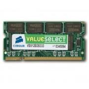 CORSAIR-Value Select SO-DIMM 512 Mo PC 2700 (VS512SDS333) - Mémoire PC - Garantie 10 ans-