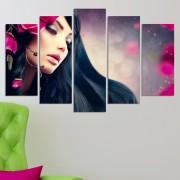 Декоративeн панел за стена с дамски образ и цветни акценти Vivid Home