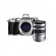 Aparat foto Mirrorless Olympus OM-D E-M5 Mark II 16 Mpx Silver Kit 12-50mm