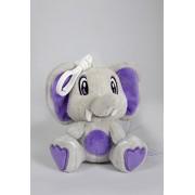 Scentco Buddies éléphants Beurre d'arachide et Gelée Sac à dos (Gris/Violet)
