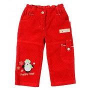 Pantaloni rosii de catifea