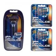 Gillette Combi Fusion ProGlide Systeem + 16 mesjes