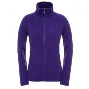The North Face Womens 100 Glacier Full Zip Fleece Garnet Purple