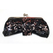 Black & Bronze clutch Bag